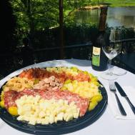 Platter with river view